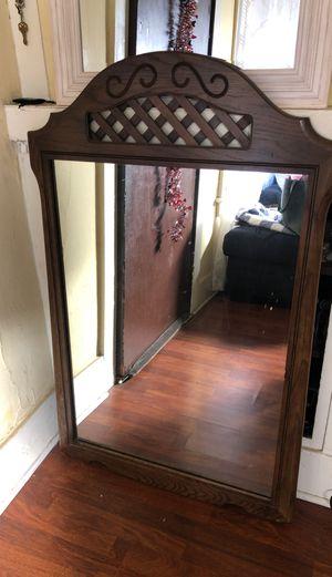Vintage Solid Wood Mirror for Sale in Los Angeles, CA