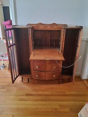 Antique Walnut Secretarial Desk for Sale in Atlanta, GA