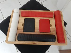Poker set in wooden box for Sale in Port St. Lucie, FL