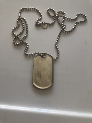Tiffany and co dog tag necklace for Sale in San Leandro, CA