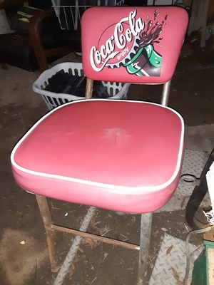 2 retro diner style coca cola chairs for Sale in Orange, TX