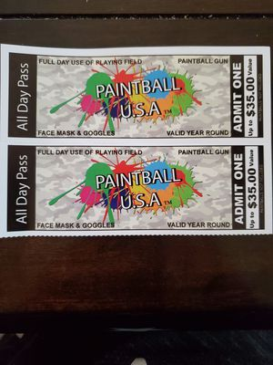 2 Paintball Tickets for Sale in Port Townsend, WA