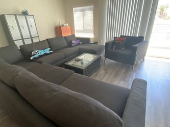 IKEA Karlstad Couch Sectional + Sofa Chair for Sale in Los Angeles,  CA