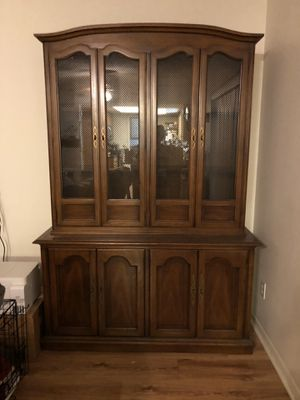 Antique French Accent Wall China Cabinet by Drexel for Sale in Clearwater, FL