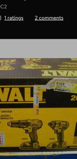 DEWALT DCK280C2 20-Volt Max Li-Ion 1.5 Ah Compact Drill and Impact Driver Combo Kit DEWALT Model:DCK280C2 for Sale in Fresno,  CA