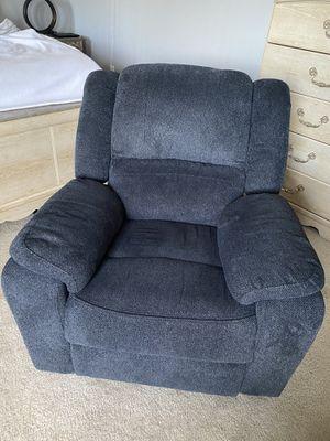 Dark Blue Recliner Chair for Sale in Poinciana, FL