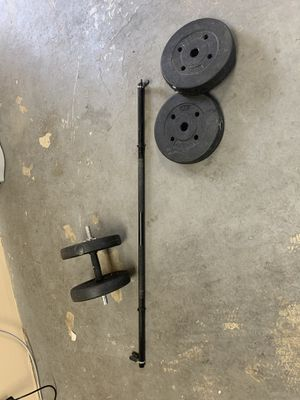 Barbell and weights for Sale in Los Angeles, CA