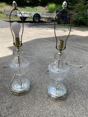 Antique Glass Ornate Lamps for Sale in Oregon City, OR