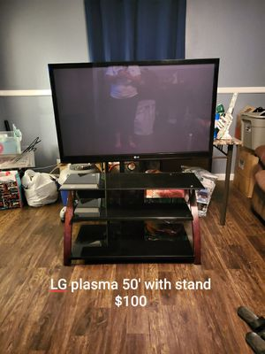 LG Plasma tv with stand for Sale in Dallas, TX