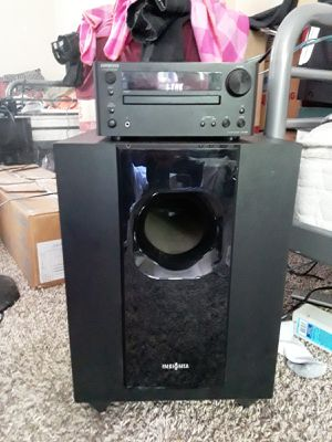HOME AUDIO SYSTEM WITH SUBWOOFER AND SPEAKERS for Sale in Las Vegas, NV