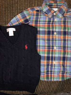 Polo Ralph Lauren Sweater-vest and long sleeve Polo shirt 12 Months for Sale in GA, US