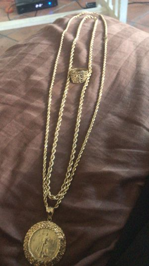 10k and 14k gold chains and ring for Sale in View Park-Windsor Hills, CA