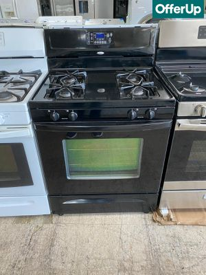 🚚💨Black Whirlpool Gas Stove Oven Works Perfectly #1103🚚💨 for Sale in Sanford, FL