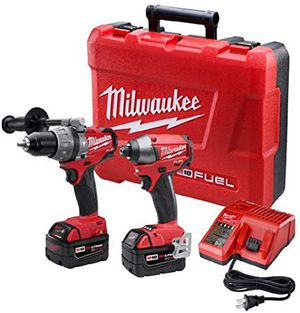 Milwaukee 2797-22 M18 Fuel Lithium 2-Tool Combo Kit includes Hammer Drill and Hex Impact Driver for Sale in The Bronx, NY