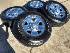 "18"" Dodge Ram Long Horn 2500 3500 wheels rims tires OEM 2473 2014 2015 for Sale in Groveport, OH"