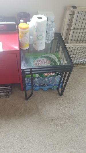 Glass end table coffee table for Sale in Silver Spring, MD