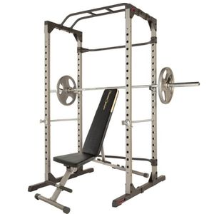 New Cage rack w/ bench and used Olympic barbell for Sale in San Diego, CA
