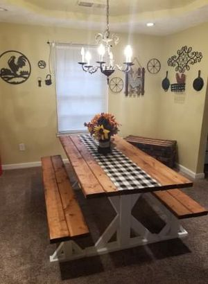 Farm House Style Dining Table & Benches for Sale in Cadiz, KY