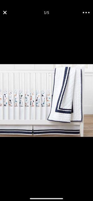 Pottery Barn Kids Crib Skirt - like new. Navy blue and white. for Sale in Medley, FL