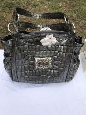 NEW-Gray Purse With Silver Accents From Stein Mart, Never Used for Sale in Lakeland, FL