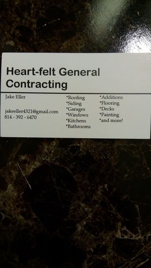 Heartfelt contracting for Sale in McKean, PA