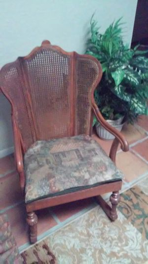 Antique rocking chair. No tears or holes on back whatsoever. for Sale in Tampa, FL