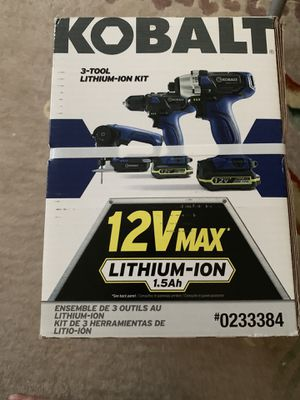 New Kobalt 3 tool kit - Drills and Saw for Sale in Stamford, CT