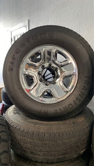Dodge Ram 1500 wheels and tires (used)LT275/7OR18 for Sale in Tampa, FL
