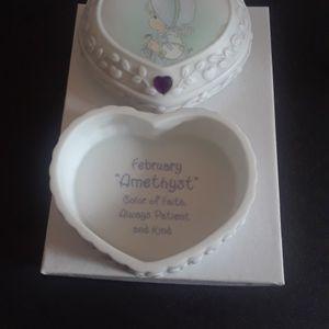 Precious Moments Enesco February Amethyst Trinket box for Sale in Tampa, FL
