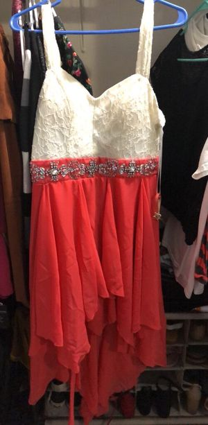 Women's white and coral sleeveless dress for Sale in TWN N CNTRY, FL