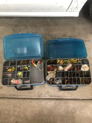 Fishing baits , lures and much more , make a tackle box for you including a rod and a reel for 75$ for Sale in Chicago, IL
