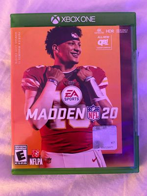 Xbox one Madden 20 for Sale in San Francisco, CA