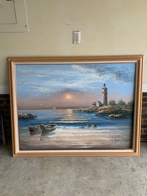 Original Oil Beach Painting for Sale in Cary, NC