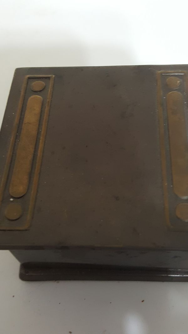 Antique Bronze and Brass Bradley and Hubbard Ink Well