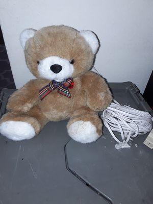 "Horizon brown teddy bear phone telephone talking plush 9"" tall for Sale in Lemon Grove, CA"