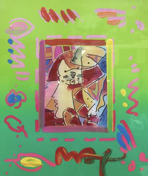 """Handmade original painting by Peter Max """"Explorer of the Seas"""" for Sale in Miami, FL"""