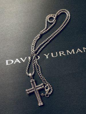 David Yurman Chevron Large Cross with chain for Sale in North Bergen, NJ