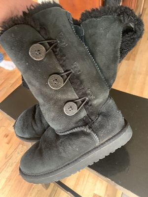Ugg Black boots button up size 1 for Sale in Denver, CO
