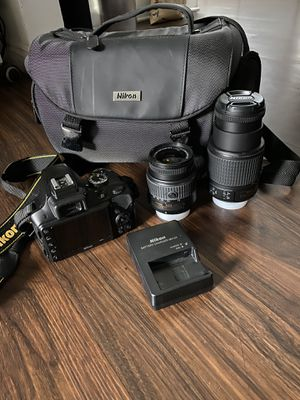 Nikon digital Camera D3300 w/18-55mm and 55-200mm 5.6G VR Lens for Sale in Lomita, CA