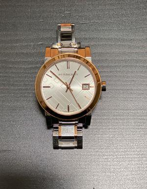 Women's Burberry two tone stainless steel bracelet watch for Sale in Beaverton, OR