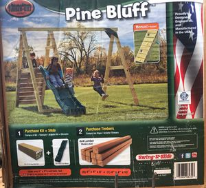 Pine Bluff Swing Set w/ slide. Purchased separately but we are selling them together. 4x4's not included. for Sale in Columbus, OH