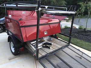 Red camper with ladder brackets (trailer not for sale) for Sale in Lawrenceville, GA