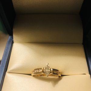 14k Diamond Ring. 1/2 Total. Size 5 for Sale in Trenton, MI