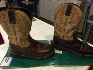 Justin leather work boots for Sale in Lathrop, CA