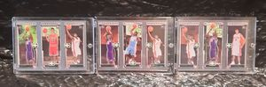 3 different LeBron James 2003-04 Topps Matrix Rookie Cards #BHJ #BAJ #JBM w/ Chris Bosh & Carmelo Anthony for Sale in San Jose, CA