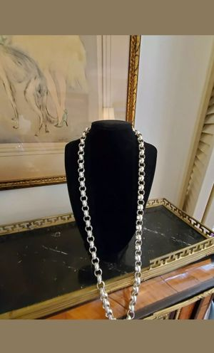 AMAZING STYLISH HEAVY STERLING 925 SILVER NECKLACE for Sale in New York, NY