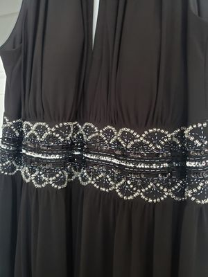 Black Embellished Dress R&M Sequined Sleeveless Gown sz 14w for Sale in Bristol, CT