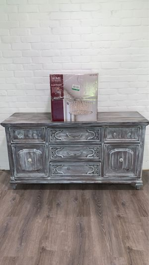 Buffet table or use as a sideboard table and a chandelier for Sale in Levittown, PA