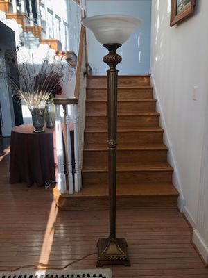 Gold floor lamp for Sale in Silver Spring, MD