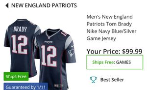 Patriots authentic Nike Jersey XL with tags for Sale in North Las Vegas, NV